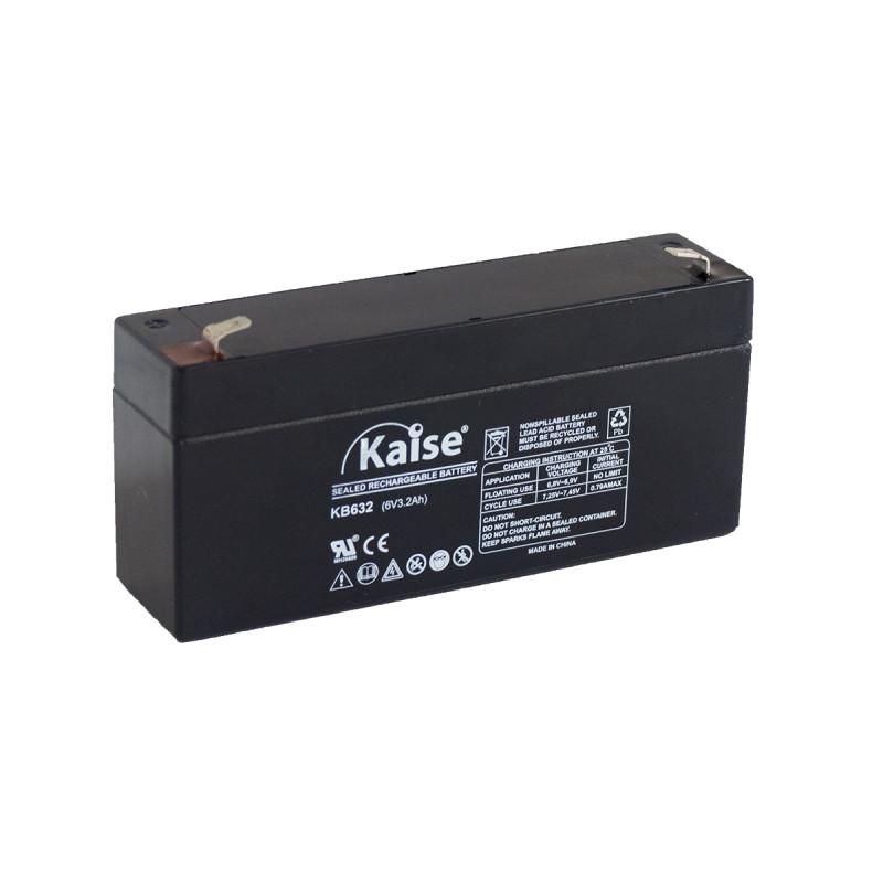 Bateria Kaise Standard 6V 3,2Ah Terminal F1